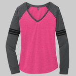 ® Women's Game Long Sleeve V Neck Tee