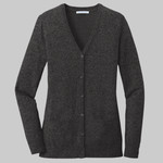 ® Ladies Marled Cardigan Sweater