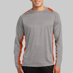 Long Sleeve Heather Colorblock Contender ™ Tee