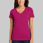 ® Women's Super Slub ® V Neck Tee